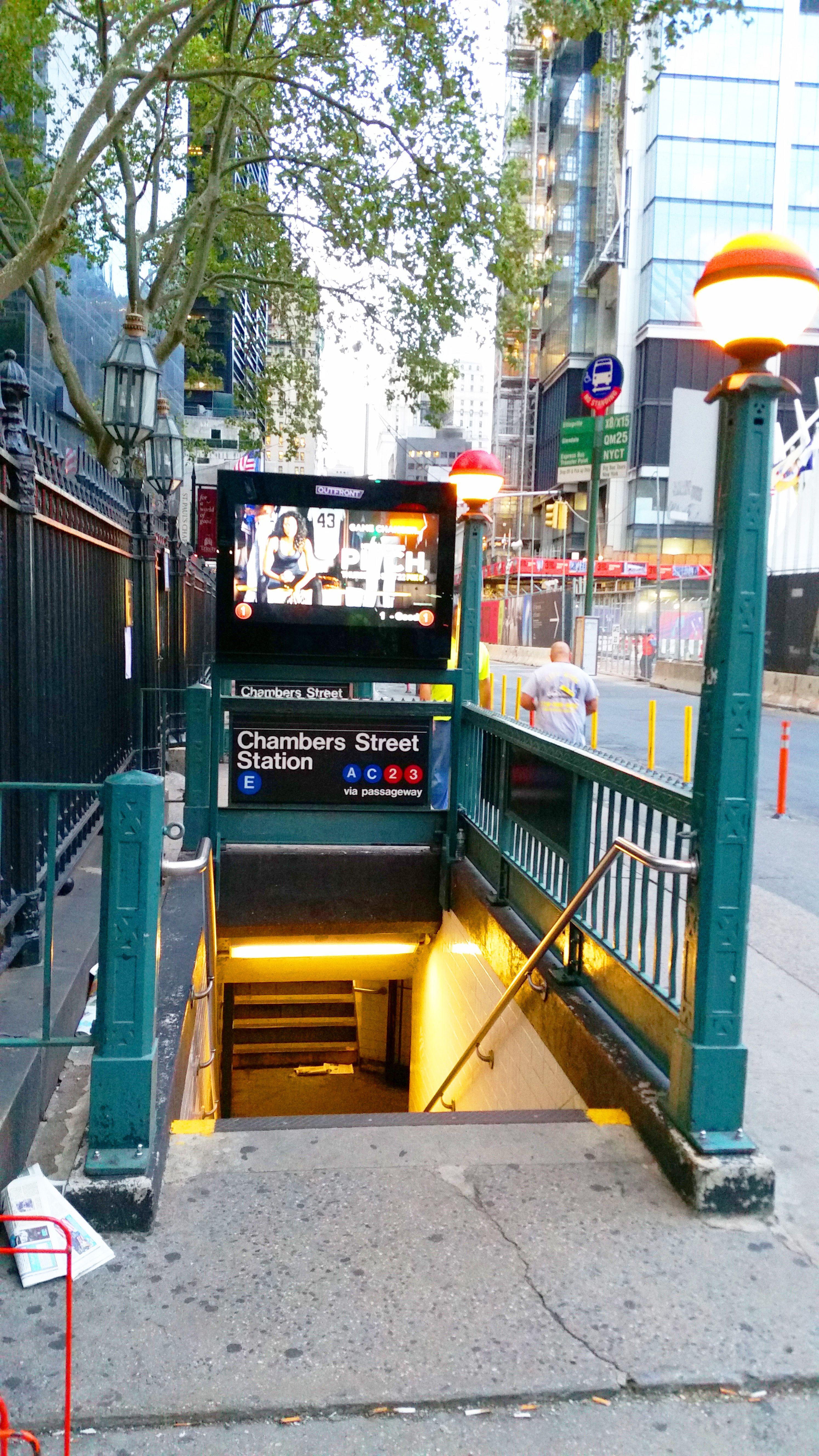 Chamber Street Subway Station At Fulton Station Freedom Tower New York Travel Fulton Subway