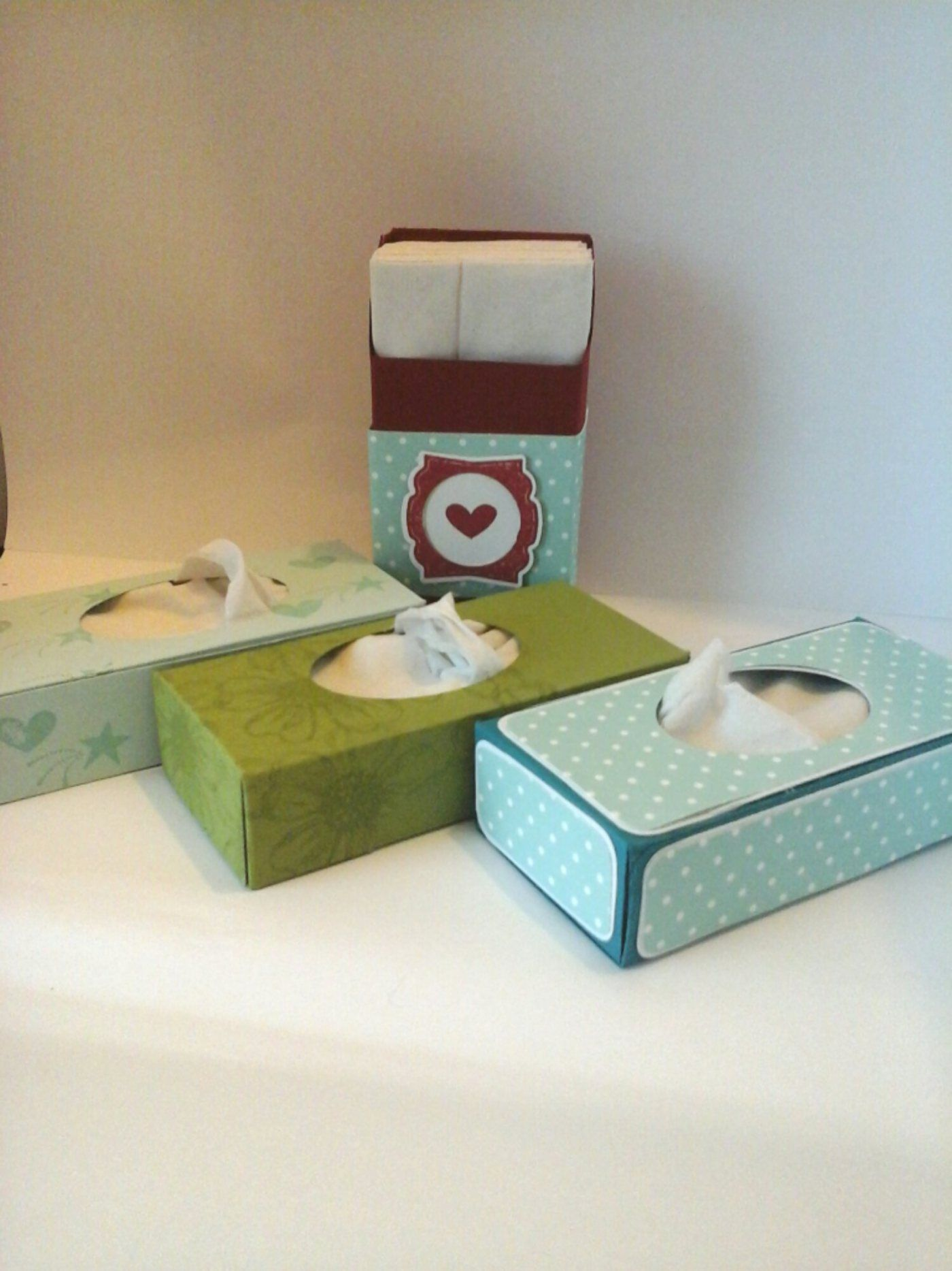 Pocket tissue boxes