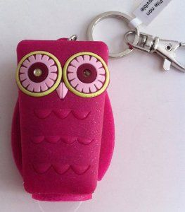 Bath And Body Works Pocketbac Holder Pink Owl With Light Up Eyes