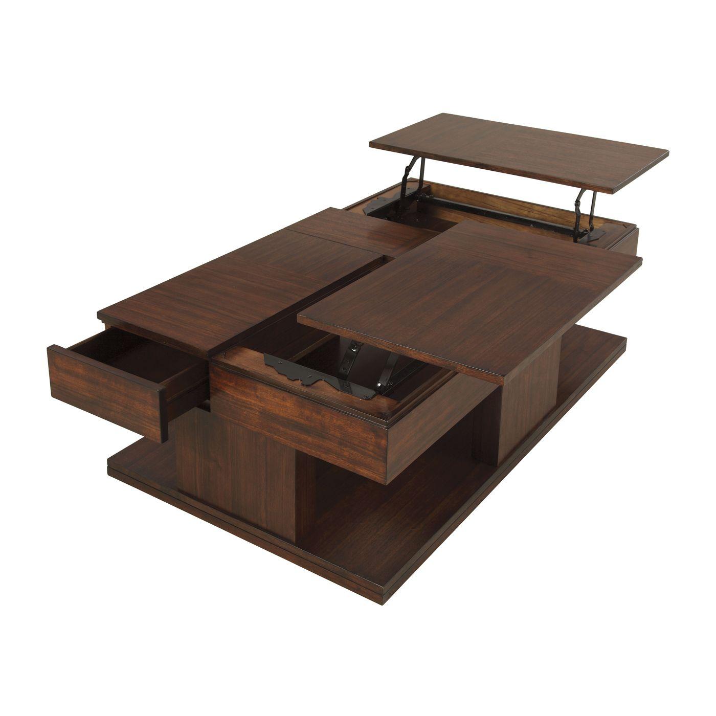 progressive furniture p561-25 le mans double lift-top cocktail