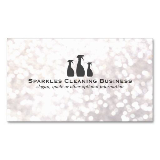 Elegant Cleaning Service White Bokeh Business Card | Cleaning ...