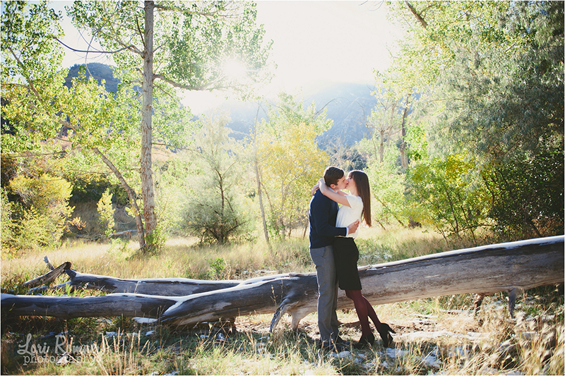 Awesome engagement session with this cute couple. Their outfits were awesome, and the mountain location was so pretty. Lori Romney Photography   What to wear for engagements