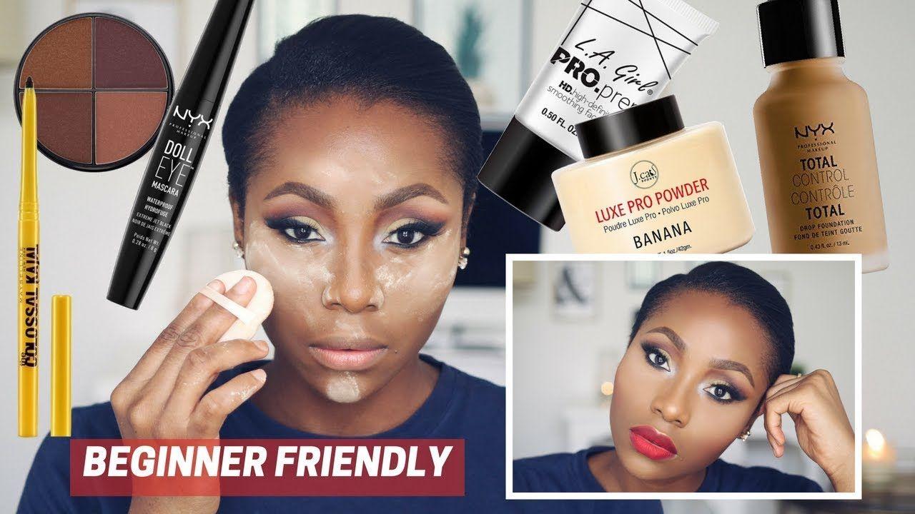 Affordable Drugstore Makeup Tutorial For Dark Skin Woc Black