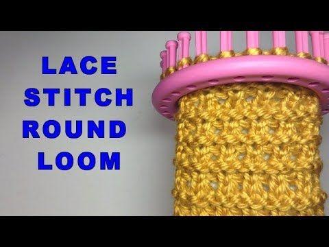 LACE STITCH ROUND LOOM COURSE | Stitch 37 | English Version