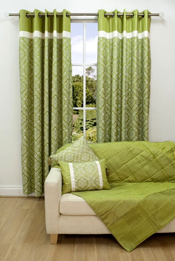 Curtains Home Window Coverings Scatter Box Vivaldi Linden Green « Window  Blinds Images, Photos And