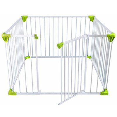 Safetots Simply Safe Playpen White With Lime Playpen