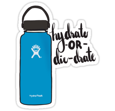 Hydrate Or Die Dyrate Hydroflask Sticker By Cordiallylily Hydroflask Stickers Hydroflask Hydro Flask Accessories