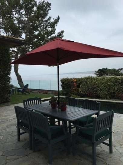 Hampton Bay 10 Ft. X 6 Ft. Aluminum Patio Umbrella In Chili With  Push Button Tilt
