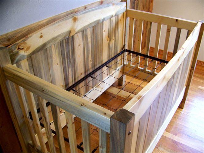 Beetle Kill Pine Baby Crib 3 In 1 Rustic Nursery Baby