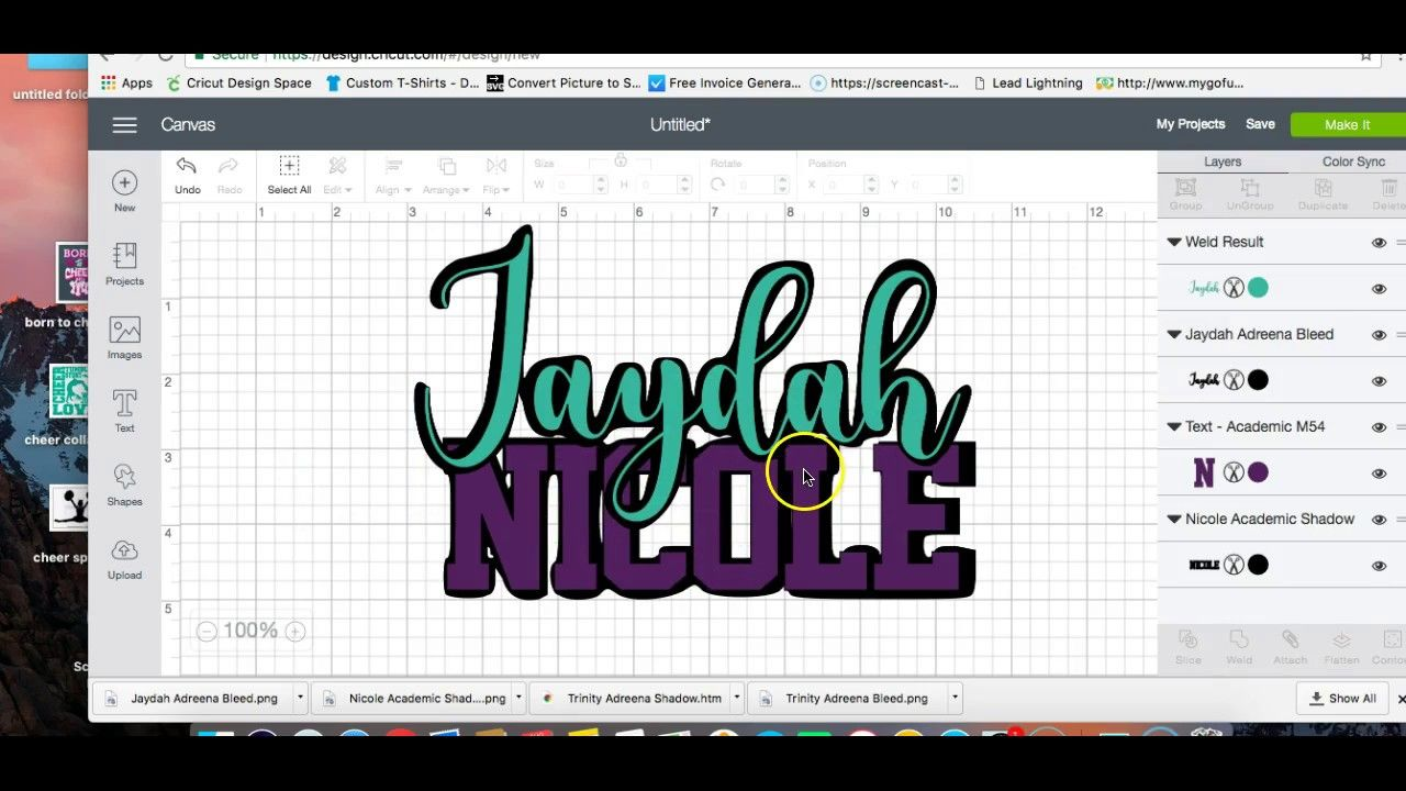 Cricut Users How to create a Shadow, Offset or Bleed Font