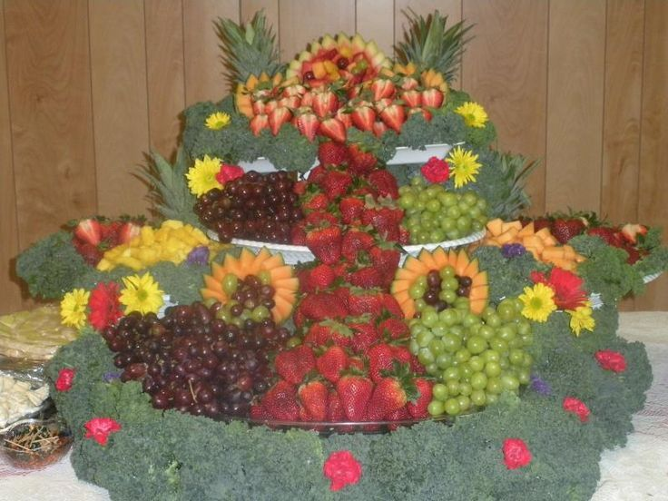 Waterfall Fruit And Veggie Displays: Fruit Displays For Weddings