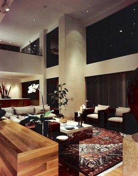 Modern Living Room With Persian Rug 2 Loveseats Washing Traditional Rugs And