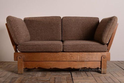 Amazing 1930S Heals Oak Bed Settee This Is A Great Quality Piece Dailytribune Chair Design For Home Dailytribuneorg