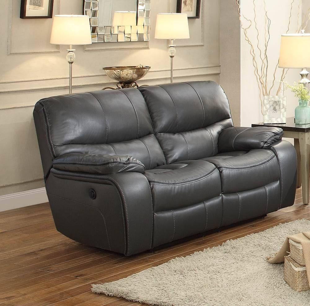 Miraculous Pecos 8480Gry 2Pw Grey Leather Match Power Double Reclining Creativecarmelina Interior Chair Design Creativecarmelinacom