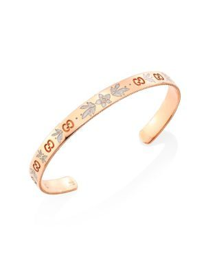 Gucci Flora bracelet in rose gold and enamel HH9LfvaD