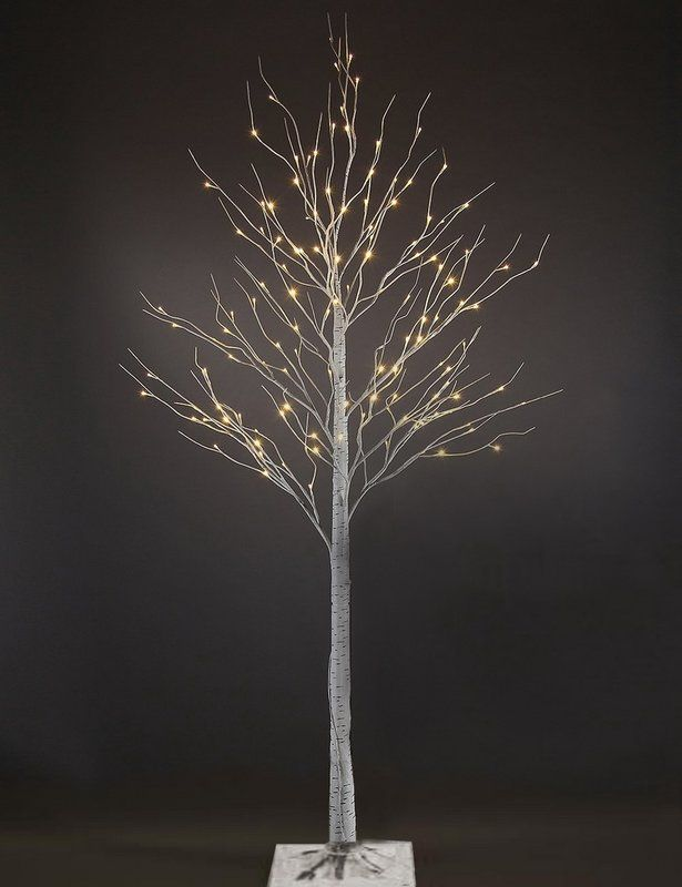 Artificial White Birch 120 LED Lighted Trees and Branches ...
