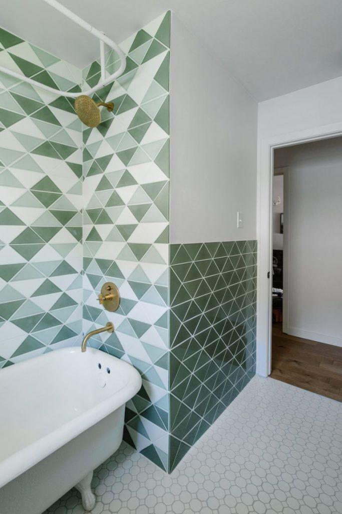 Retro badkamer van Chase en Lauren - Metrotegels, Badkamer en ...