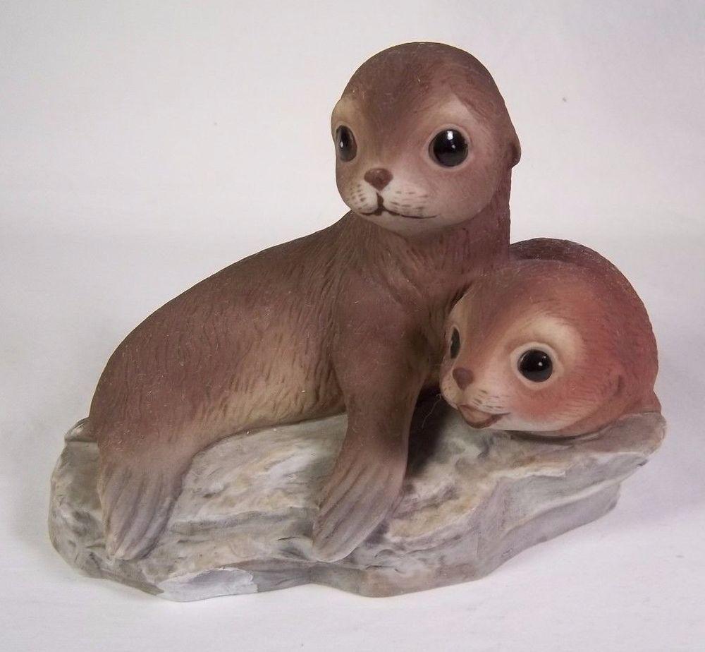 Home interior masterpiece figurines homco masterpiece porcelain baby seals sea lions figurine