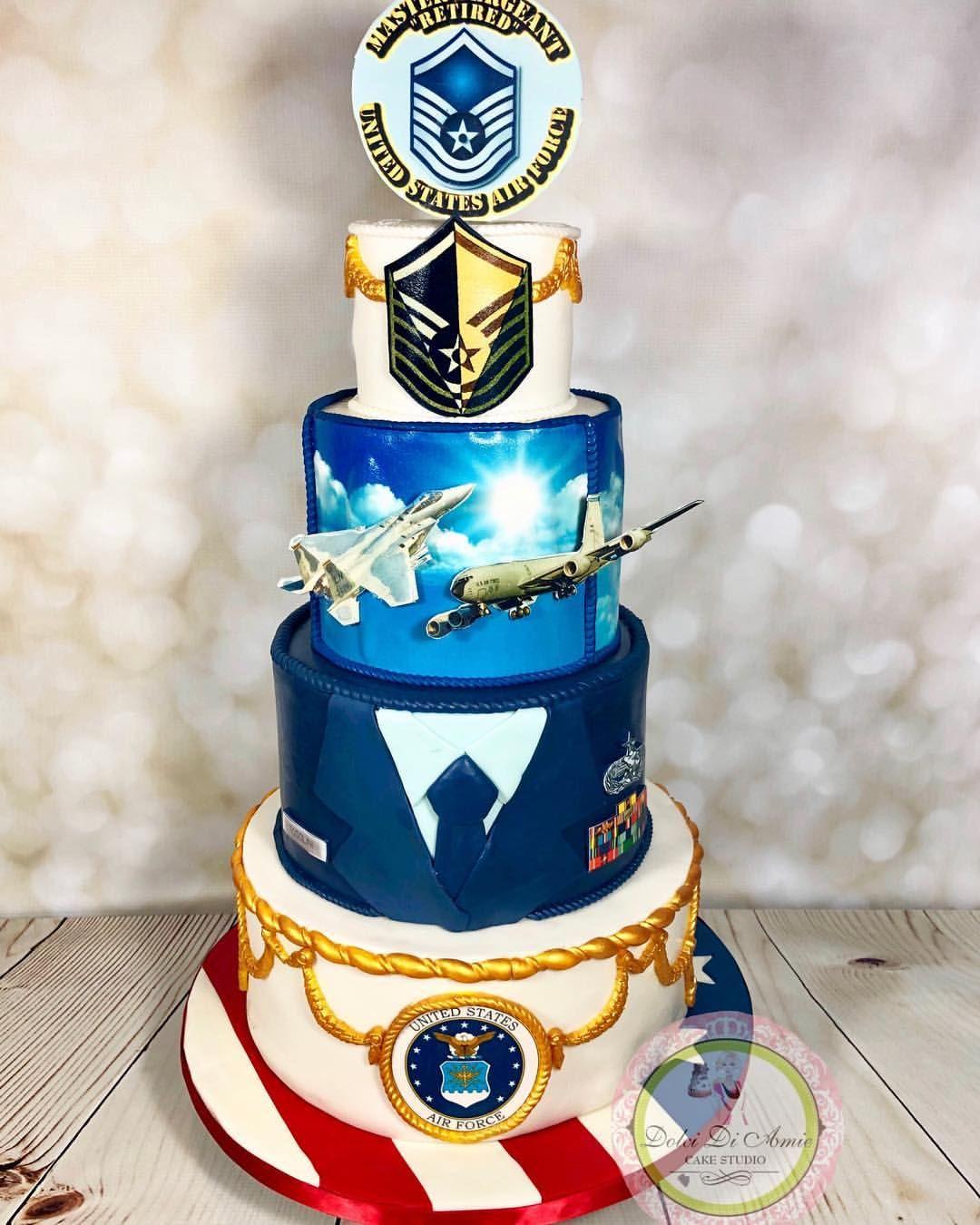 USAF F15 / KC135 Military retirement cake military usaf