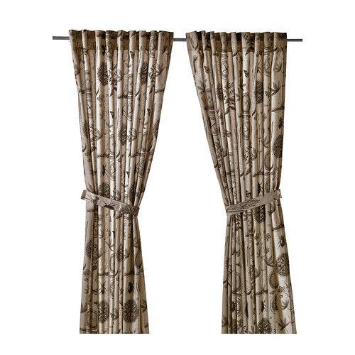Ikea Gardine ikea blåvinge 2 gardinen raffhalter das naturmaterial ramie