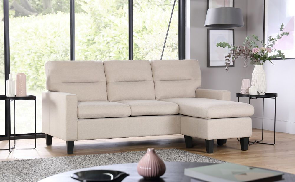 92c25cd846 Fletcher Small Oatmeal Fabric Corner Sofa | Budding way | Corner ...