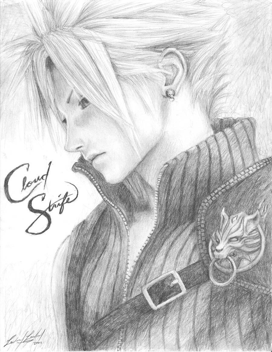 Cloud Sketch By Friedchicken365 Final Fantasy Vii Manga