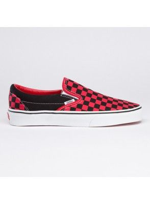 f8ba1f7807 Vans Shoes Checkerboard Slip-On Classic Canvas Red Black