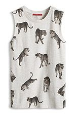 Top met animal-look