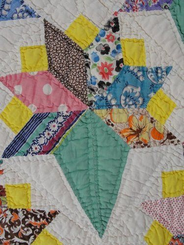 Vintage 1930s Feedsack Quilt Fun Unusual Quilts
