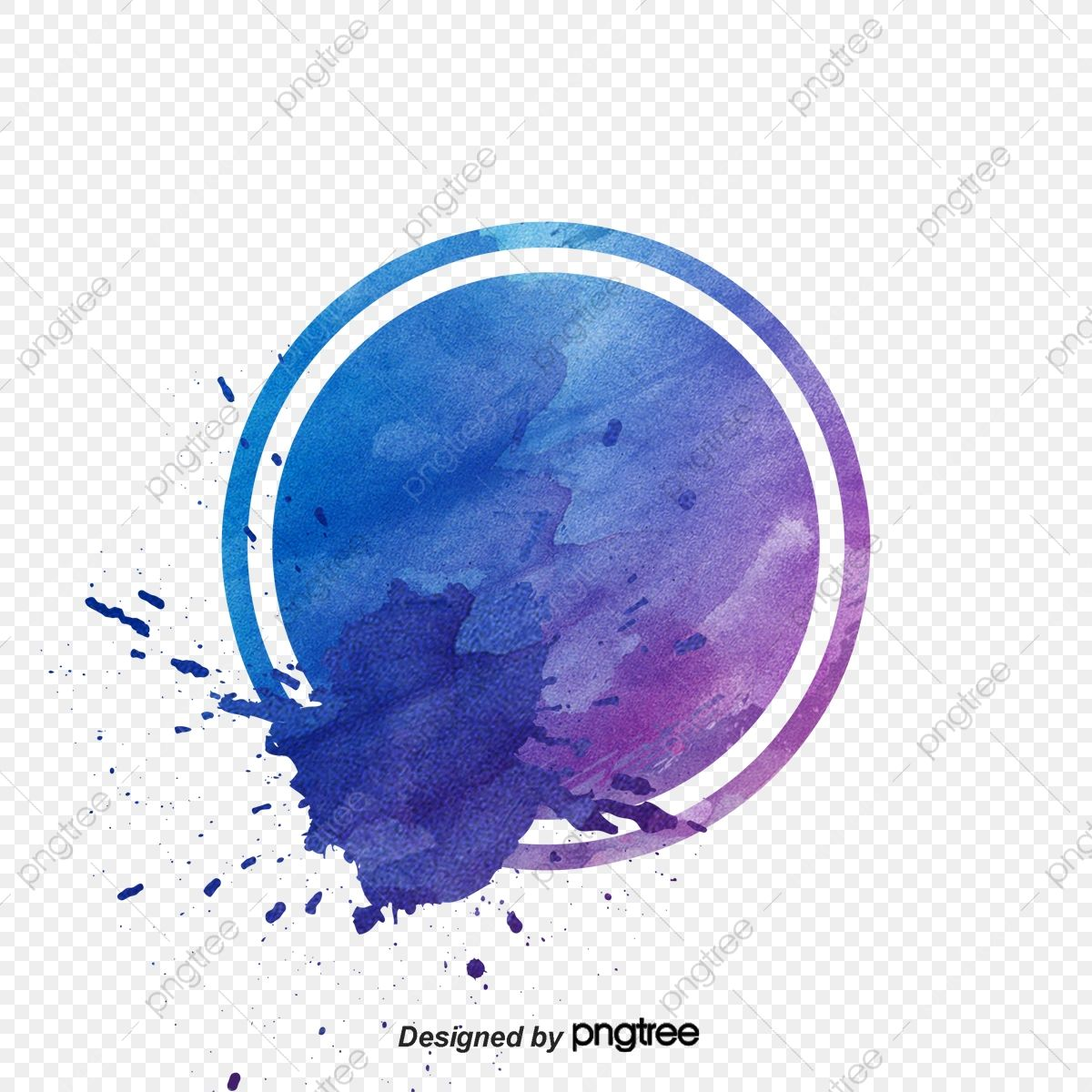 Round Watercolor Ink, Ink Marks, Ink, Splash PNG and