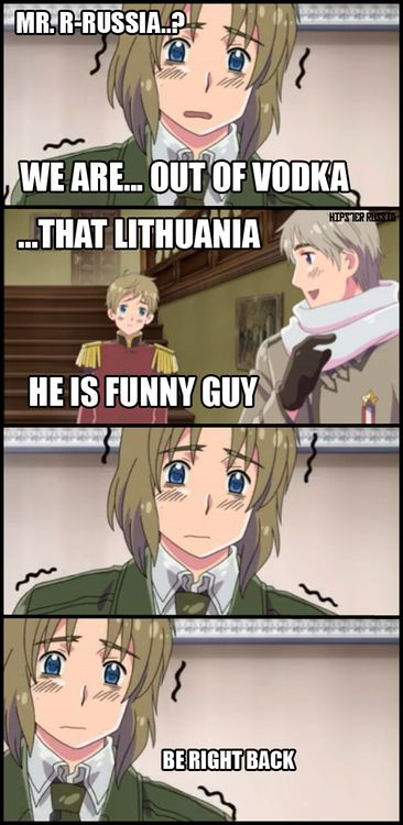 Poor Lithuania - Hetalia   At least he's cute,same with Russia and