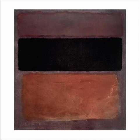 Mark Rothko - No. 10, brown, black, sienna on dark wine, 1963 - jetzt bestellen auf kunst-fuer-alle.de