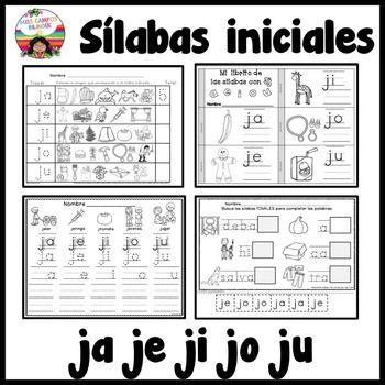 Letra J Silabas Ja Je Ji Jo Ju Silabas Pinterest Language