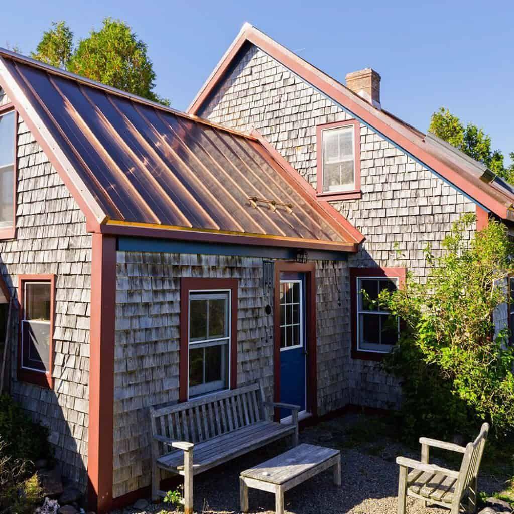 Interlock Standing Seam Roof Solid Copper Historic House Standing Seam Metal Roof Standing Seam Metal Roof