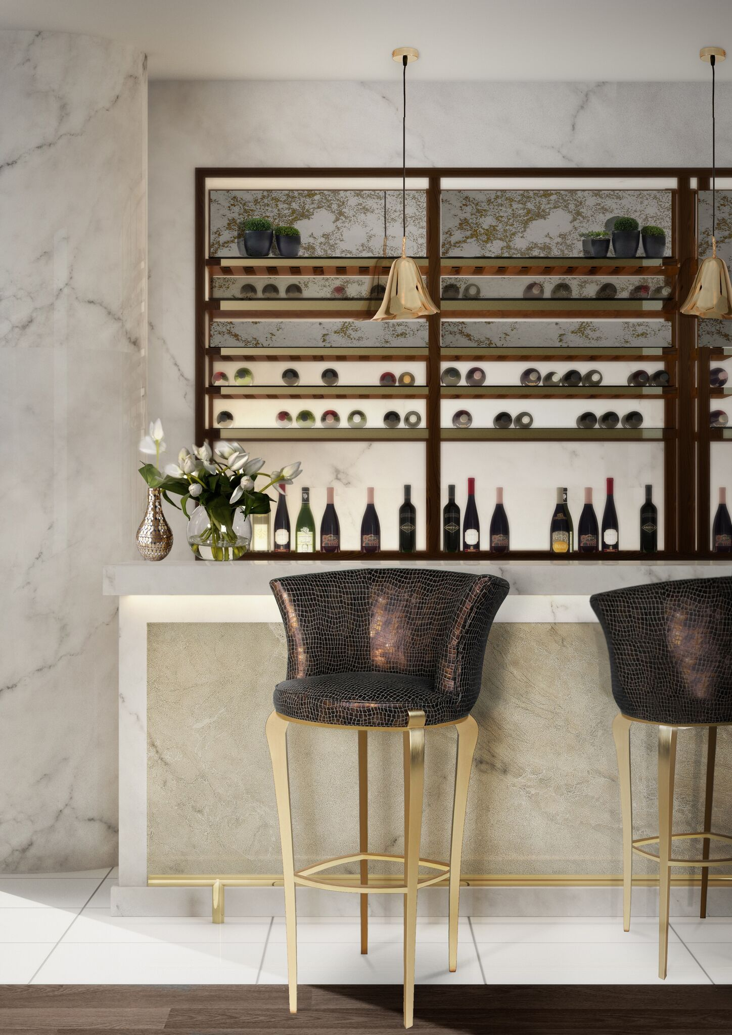Bar Design | Interior Design Inspiration with DELICIOSA Bar Stool by @koket Restaurant Interior #bardesign #barstools #barchair Find more at: https://www.bykoket.com/guilty-pleasures/upholstery/deliciosa-bar-stool.php