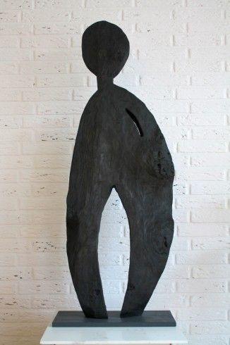 schwarzer wachter habe ich auch kunst skulpturen moderne skulptur kunstproduktion bunte gemälde abstrakt bilder modern