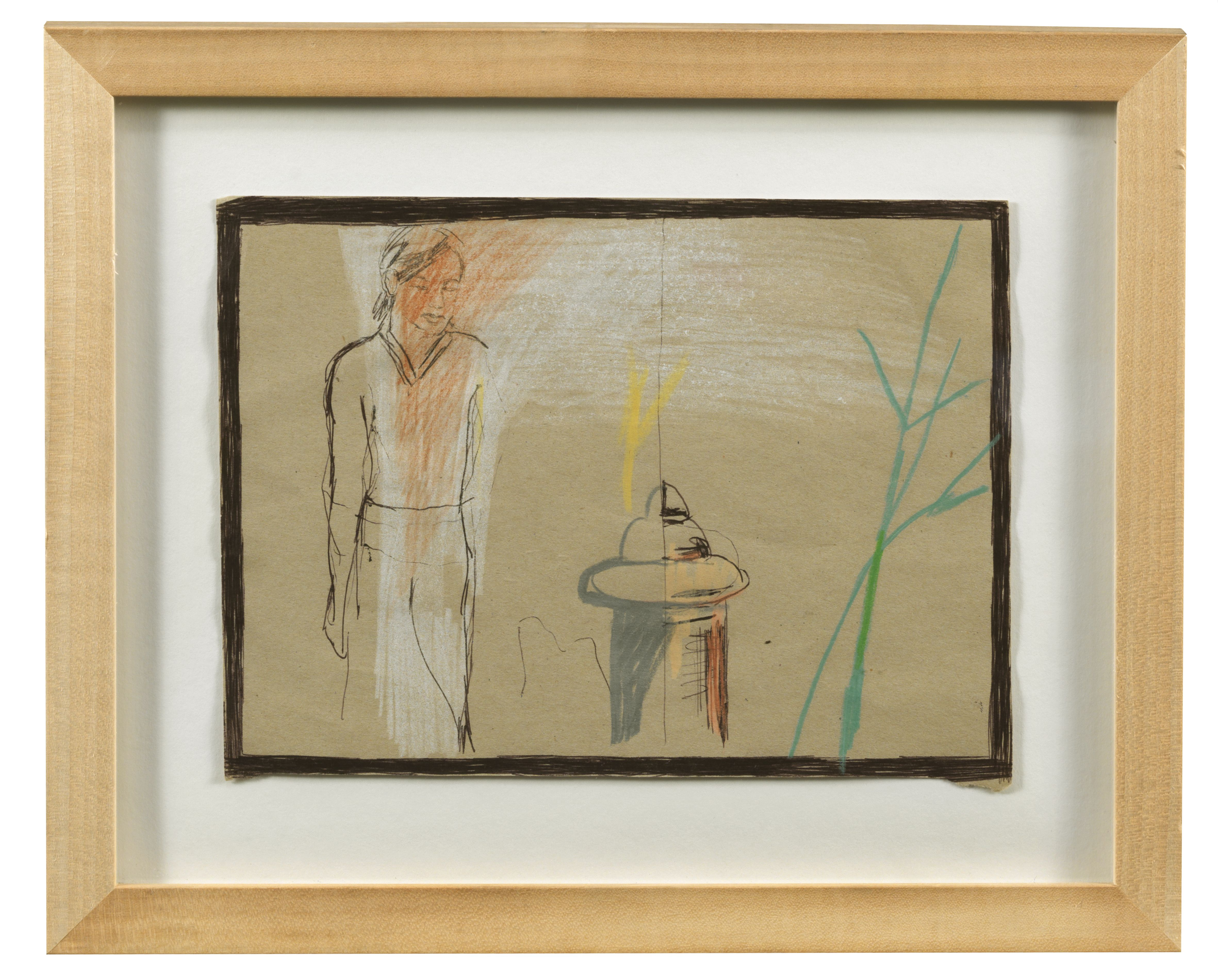 "AUCTION FIVE | Jasper Krabbe, ""Self portrait"". Mixed media."