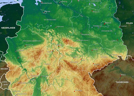 Harta Germaniei Harta Fizica Si Geografica Abstract Artwork
