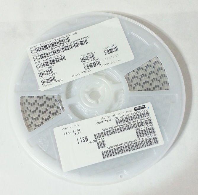 1000pcs Full Reel Murata Capacitor 10uf 50v 2220 X5r 10