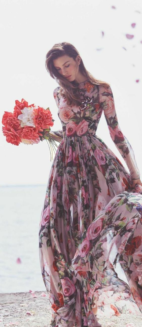 robes longues fleuries #bohooutfits