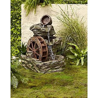 Garden Oasis Lighted Rock With Wheel Fountain Kmart Item