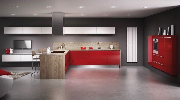 Forma cocinas: más de 50 diseños de cocinas en L - | Muebles rojo ...