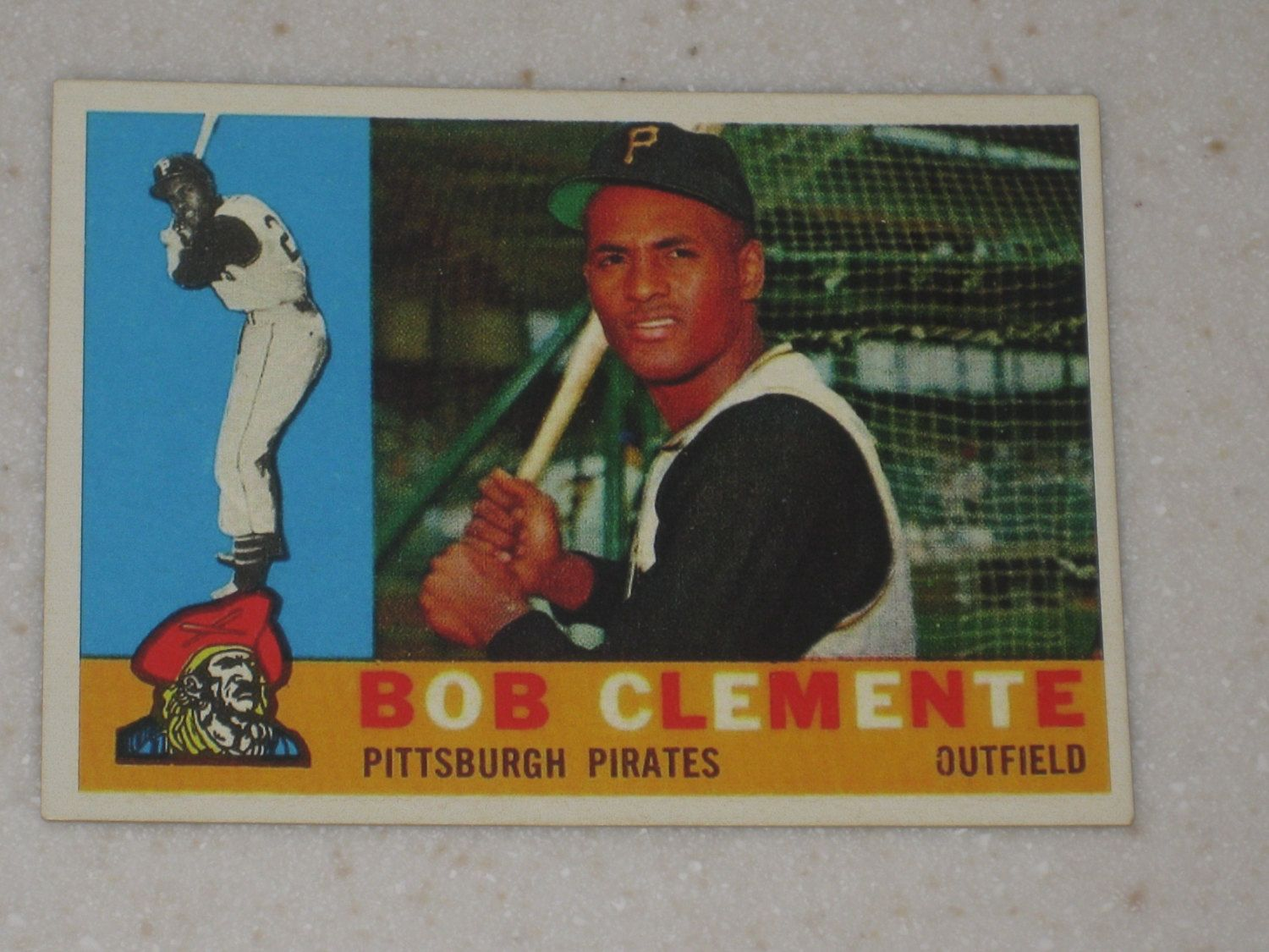 1960 topps roberto clemente 326 vintage look by