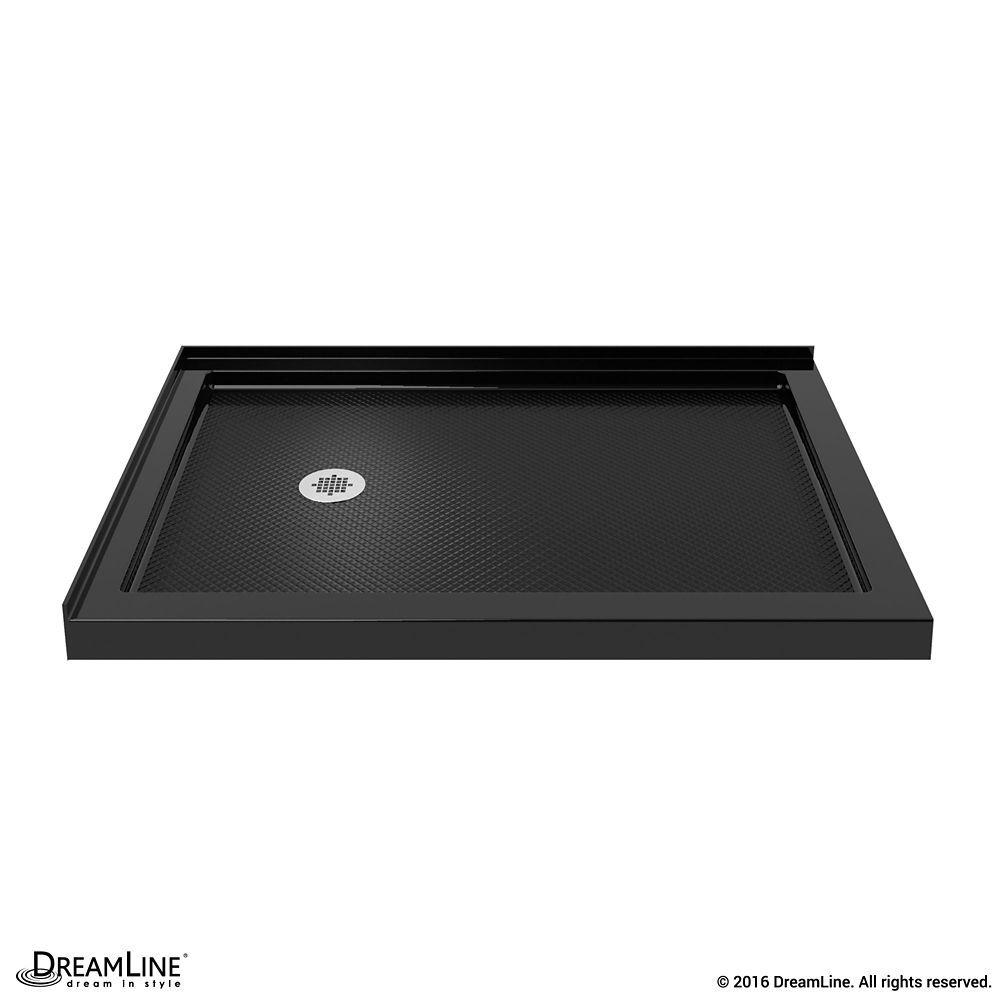 Slimline 36 Inch X 48 Inch Double Threshold Shower Base In Black