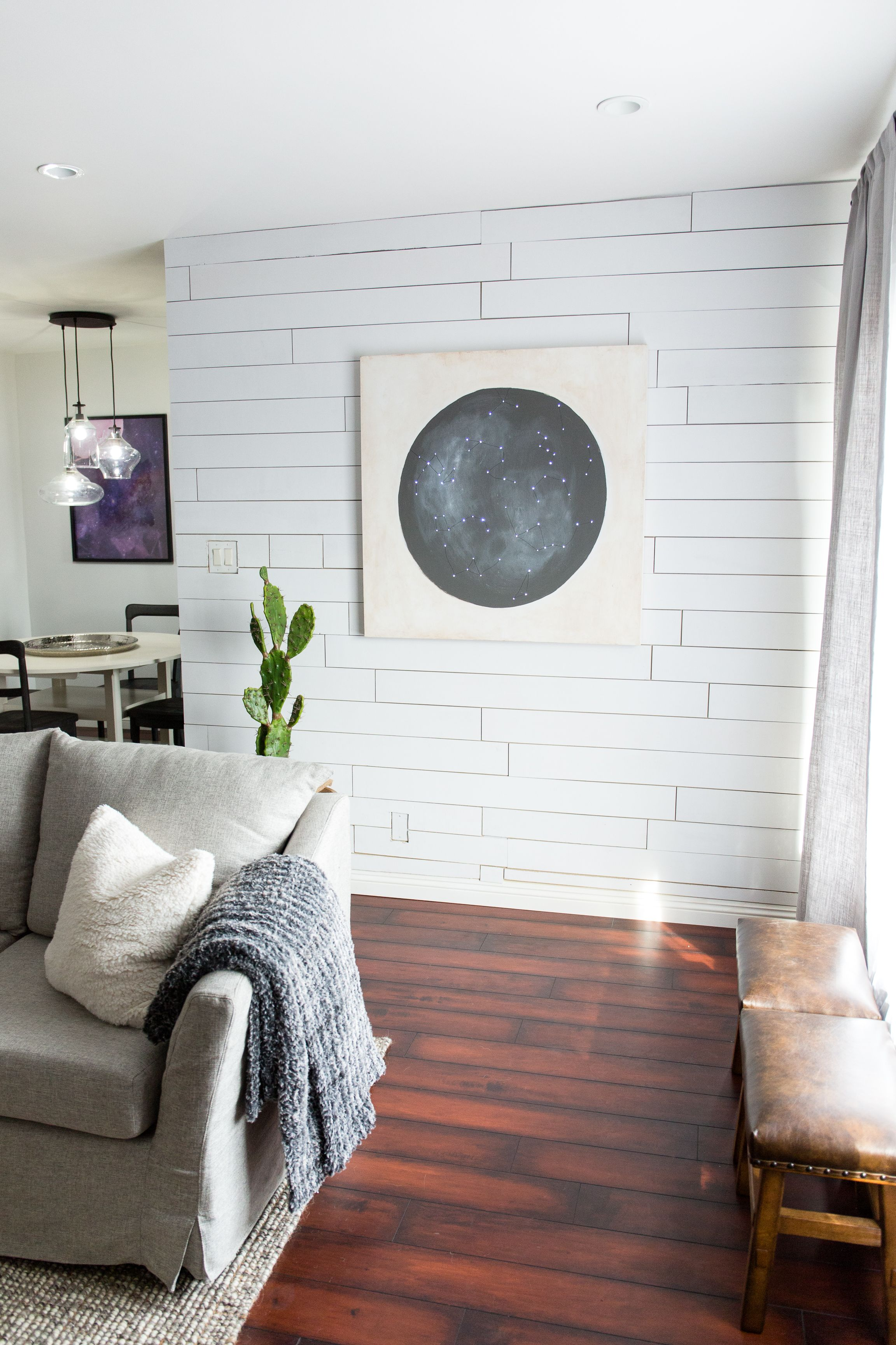 Mr Kate  Diy Renter Friendly Shiplap Wall