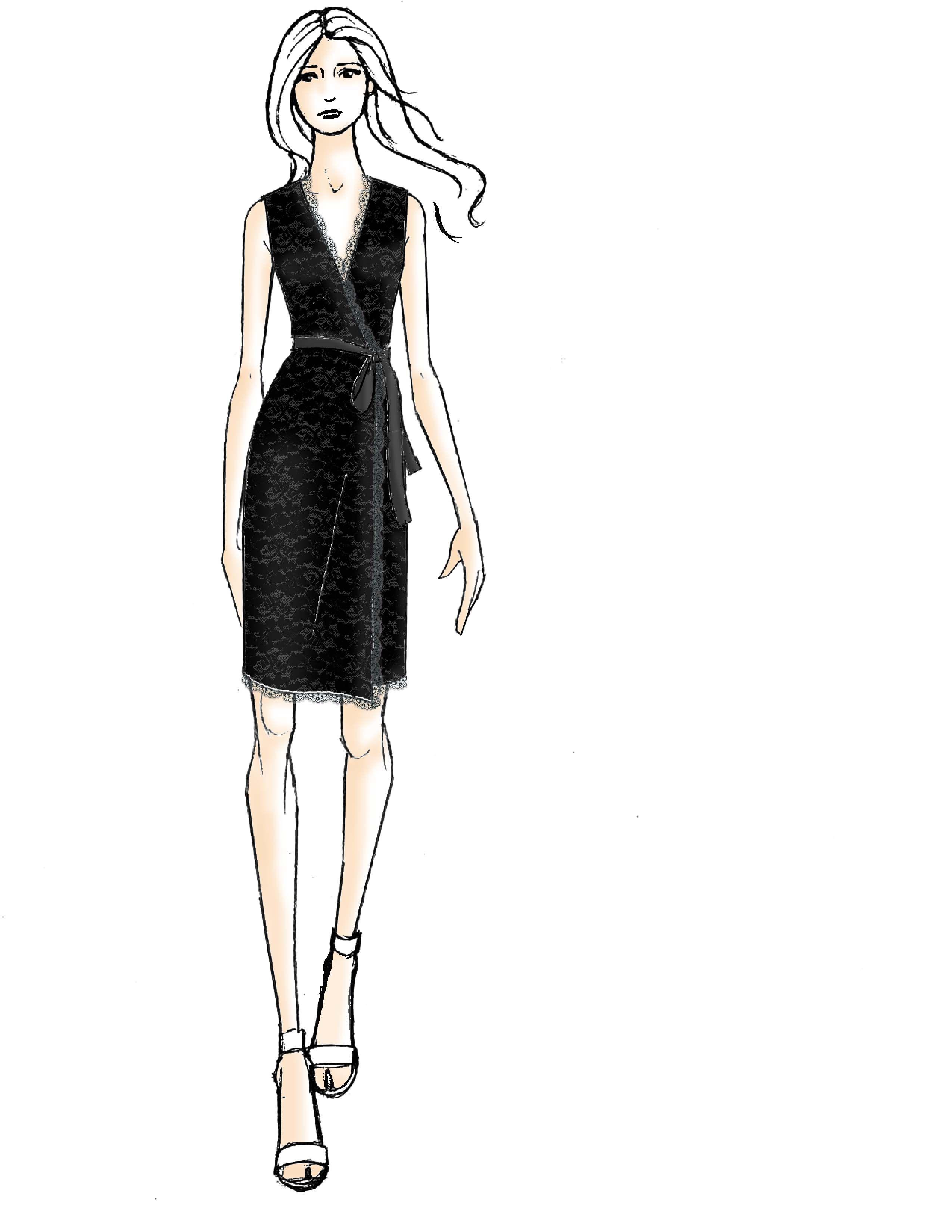 DVF Julianna Sleeveless Lace Wrap Dress   Inspiración vestidos ...