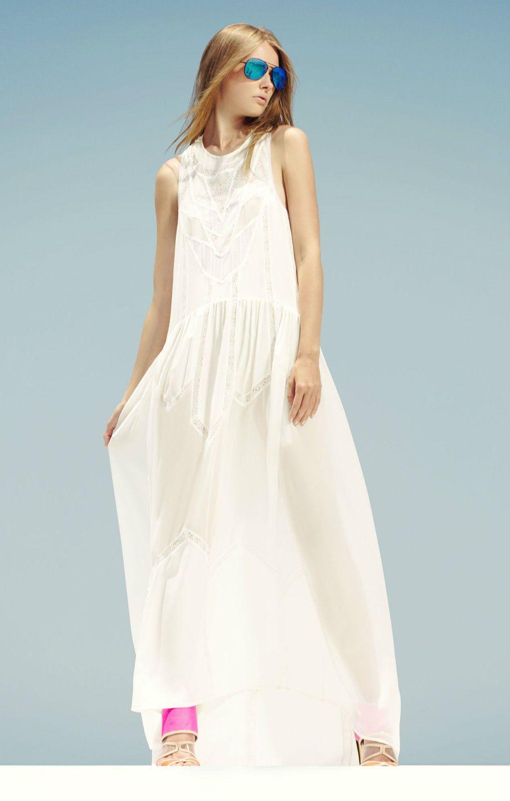 BCBG Max Azria Runway Tahlia Sleeveless Panel Dress PMX6V750 | eBay ...