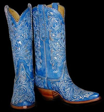 Cowboy boots women, Cowgirl boots, Blue