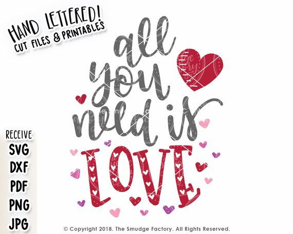 Download Valentine SVG, All You Need Is Love SVG, Valentine ...