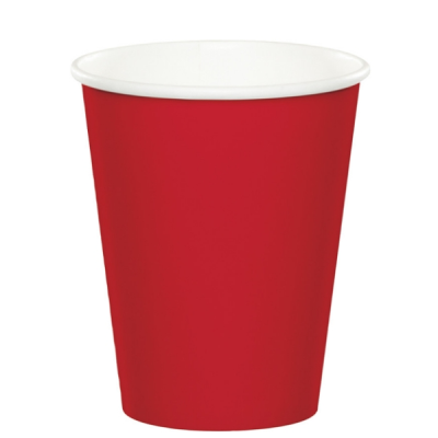 Classic Red Party 9oz Hot Cold Cups 24 Ct Soda Cup Red Party Classic Red